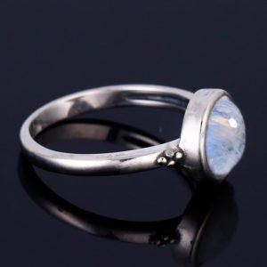 bague pierre de lune minimaliste femme