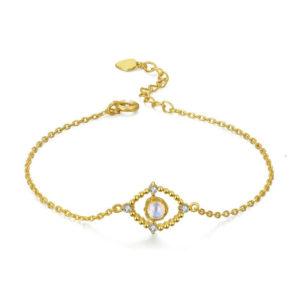 bracelet pierre de lune or