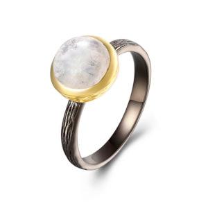 Bague pierre de lune luxe