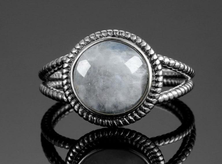 bijoux pierre de lune bague l'idéale