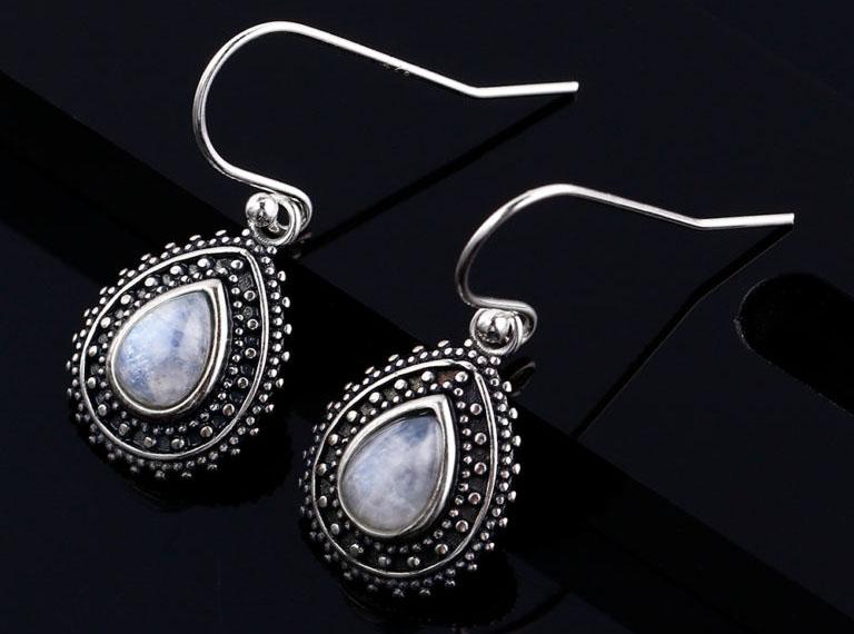 bijoux pierre de lune boucles d'oreilles les clairvoyantes