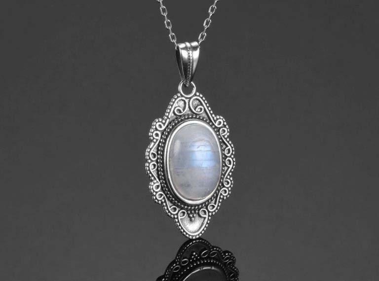 bijoux pierre de lune collier sérénité