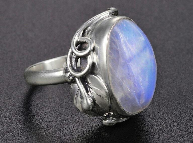 bijoux pierre de lune grosse bague