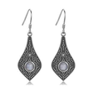 Boucles d'oreilles pierre de lune Ethnique