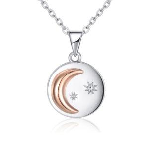Collier lune circulaire avec étoiles