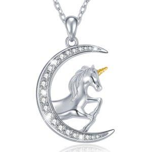 collier lune licorne