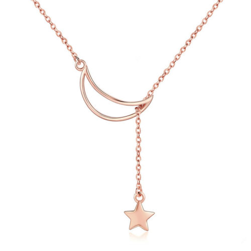 collier lune rose gold