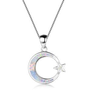collier demi lune acier inoxydable