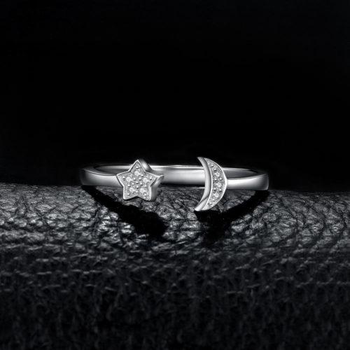 bague lune étoile femme luxe