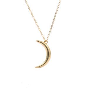 collier croissant de lune or