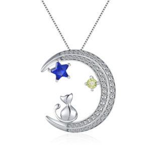 collier lune chat étoile