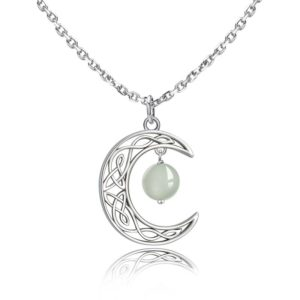 collier lune phosphorescente