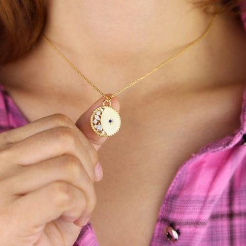 collier lune original femme