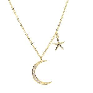 collier croissant de lune étoile