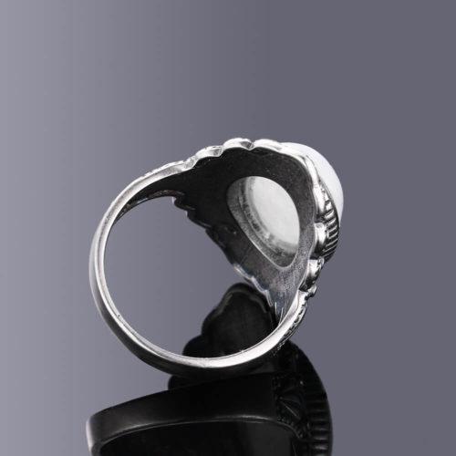 Bague cabochon pierre de lune femme