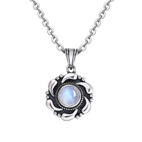collier femme pierre de lune