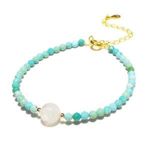 Bracelet pierre de lune bleu