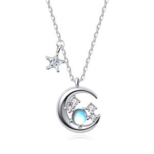 collier pierre de lune femme