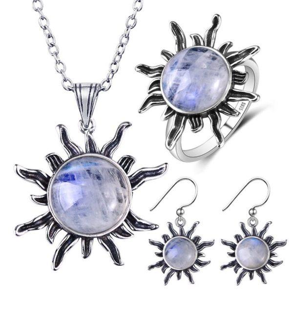 Bijoux pierre de lune argent